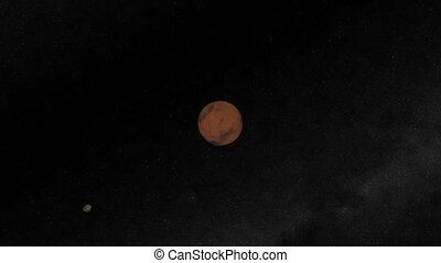 Mars Flyby. CG. hd