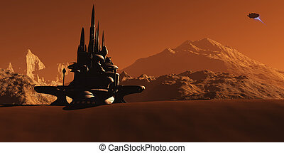 Mars Habitat - A future colony based on Mars, the red...
