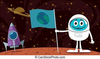 Mars Landing - Looping animation of Mars landing.