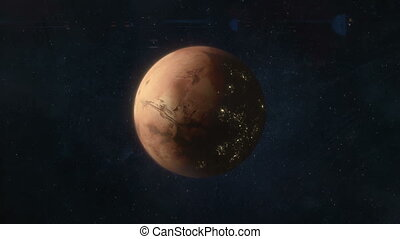 Mars of the Future - Spaceship Approaching