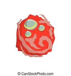 Mars planet of the Solar System cartoon vector Illustration