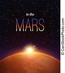 Mars Realistic Background