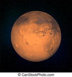 Mars realistic Planet
