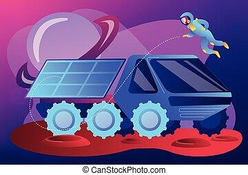 Mars rover concept vector illustration. - Mars rover...