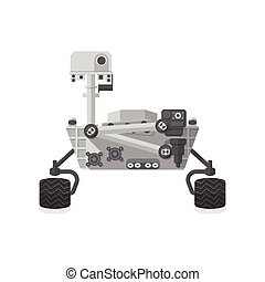 Mars Rover, Flat design, vector illustration, isolated on ...