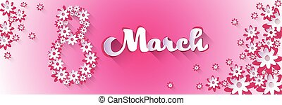mars, salutation, international, jour, carte, femmes