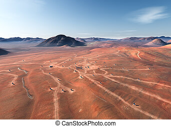 Mars surface. Elements of this image furnished by NASA