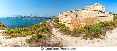 marsaxlokk, fortaleza, san, malta, lucian