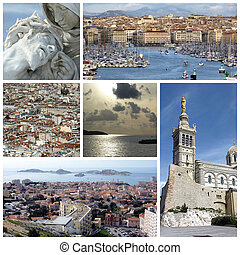 marseille, france, collage