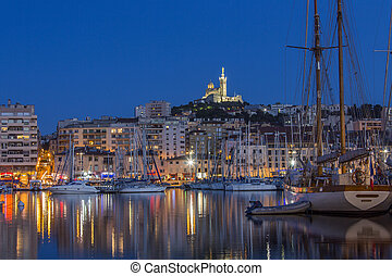 Marseille - South of France - The harbor of Marseille at ...