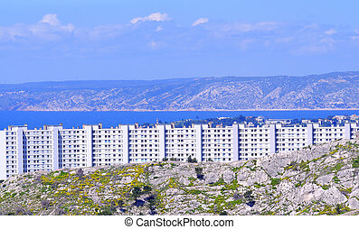 Marseille - the town of marseille in France