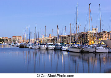 Marseilles, France - View on Old Port in Marseilles in ...