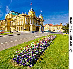 Marshal Tito square in Zagreb, capital of Croatia