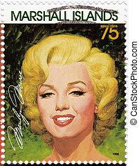 MARSHALL ISLANDS - CIRCA 1995: Stamp printed in Marshall ...
