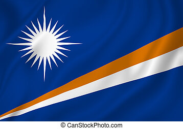 Marshall Islands flag background texture.