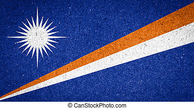 Marshall Islands flag on paper background