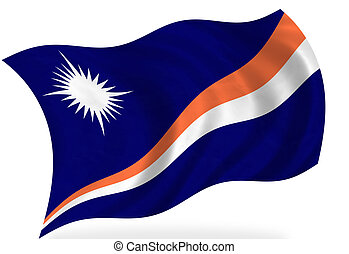 Marshall Islands flag, isolated