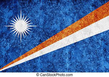 Marshall Islands Metallic flag, Textured flag