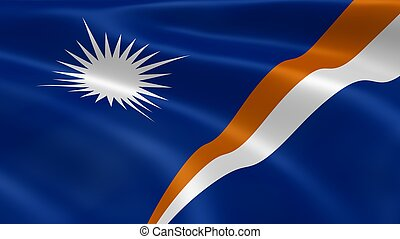 Marshallese flag in the wind