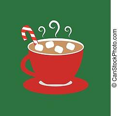 marshamllows, 暑い, クリスマス, チョコレート