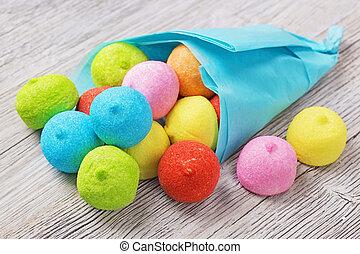 marshmallow, colorito