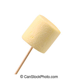 Marshmallow in the form of a cylinder.