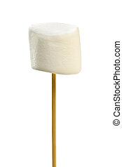 marshmallow, ligado, skewer