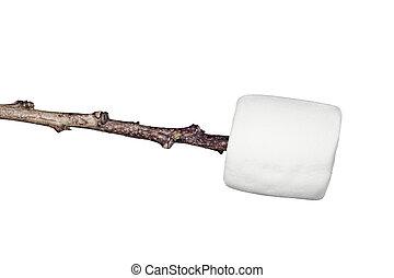 marshmallow, ligado, um, vara