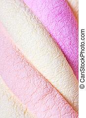 Marshmallow - Macro view of marshmallow background