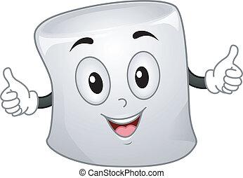 Marshmallow Mascot - Mascot Illustration of a Marshmallow...