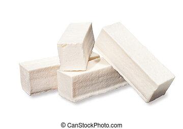 marshmallow on white background