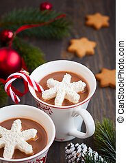 marshmallows, chocolate quente