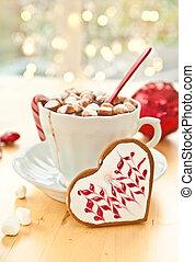 marshmallows, cioccolato caldo