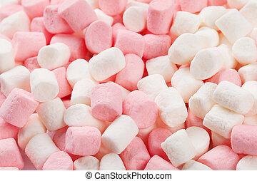 Marshmallows - Colorful marshmallows macro texture...