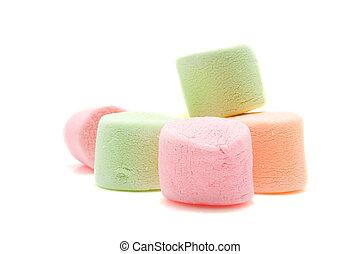 marshmallows, coloridos