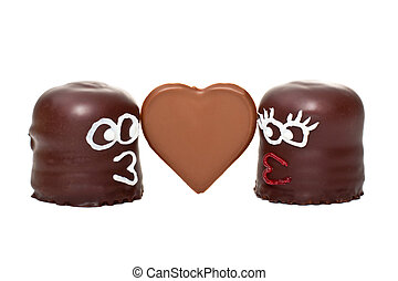 marshmallows, queda, 2, amor, dois