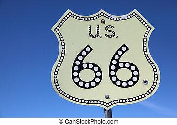 marszruta, historyczny, amerykanka, 66, szosa
