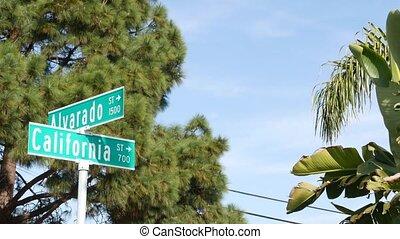 marszruta, miasto, crossroad., anieli, turysta, nameboard, ...