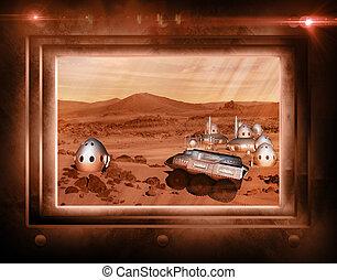 marte, misión, colonia, vehículo