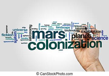 marte, parola, nuvola, colonizzazione
