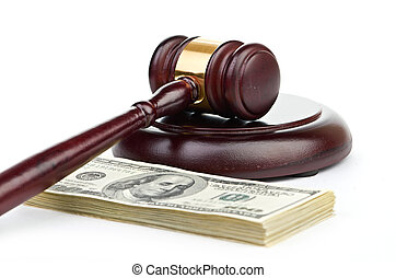 marteau, américain, droit & loi, argent., pile