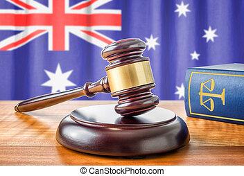 marteau, australie, -, livre, droit & loi