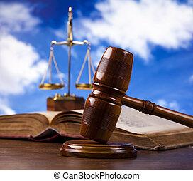 marteau, bois, juges