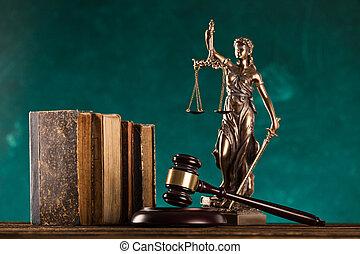 marteau, brun, justice., statue