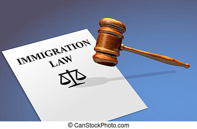 marteau, concept, immigration, droit & loi