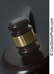marteau, concept, légal, droit & loi
