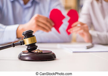 marteau, décider, juge, mariage, divorce