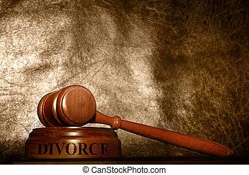 marteau, divorce, légal