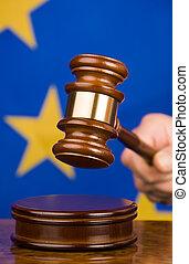 marteau, drapeau syndicats, européen