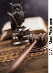 marteau, droit & loi, thème, juge cour, maillet